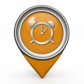 Alarm pointer icon on white background — Stock Photo