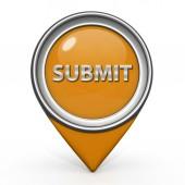 Submit pointer icon on white background — Stock Photo