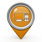 Computer pointer icon on white background — 图库照片