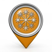 Snow pointer icon on white background — Foto Stock