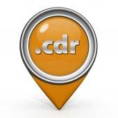 .cdr pointer icon on white background — Stock Photo