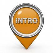 Intro pointer icon on white background — Stock Photo