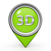 3d pointer icon on white background — 图库照片