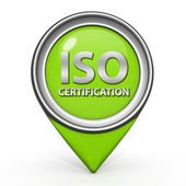 Iso certification pointer icon on white background — Stock Photo