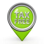 Steuer freie zeiger-symbol auf weißem hintergrund — Stockfoto