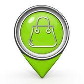 Bag pointer icon on white background — ストック写真
