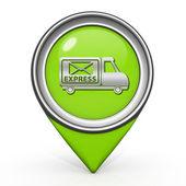 Express pointer icon on white background — Stock Photo