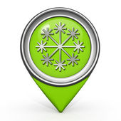 Snow pointer icon on white background — ストック写真
