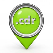 .cdr pointer icon on white background — Foto de Stock