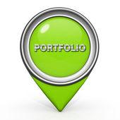 Porfolio pointer icon on white background — Foto de Stock