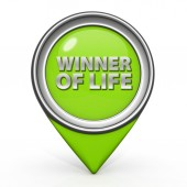 Winner of life pointer icon on white background — Stockfoto