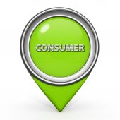 Consumer pointer icon on white background — Stock Photo