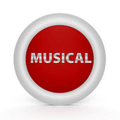 Musical circular icon on white background — Stock Photo