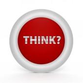 Think circular icon on white background — Stock Photo