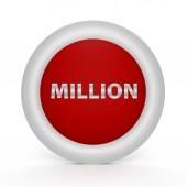 Million circular icon on white background — Stock Photo