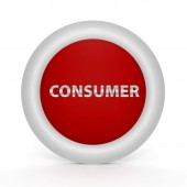 Consumer circular icon on white background — Stock Photo
