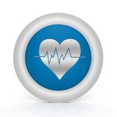 Heart circular icon on white background — Stock Photo
