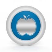 Apple circular icon on white background — Stock Photo
