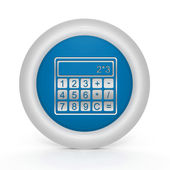Calculate circular icon on white background — Stock Photo