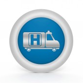 Emergency circular icon on white background — Foto de Stock