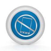 Phone ban circular icon on white background — Stock Photo