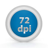 72 dpi circular icon on white background — Stock Photo