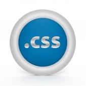 .css circular icon on white background — Stock Photo