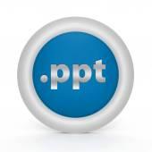 .ppt circular icon on white background — Stock Photo