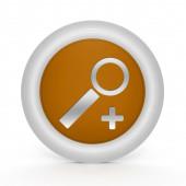 Search circular icon on white background — Stock Photo