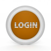 Anmeldung kreisförmige Symbol auf weißem Hintergrund — Stockfoto