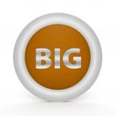 Big circular icon on white background — Stock Photo