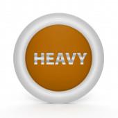 Heavy circular icon on white background — Stock Photo