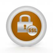 Ssl circulaire pictogram op witte achtergrond — Stockfoto
