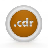 .cdr circular icon on white background — Stock Photo