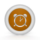 Larm cirkulär ikonen på vit bakgrund — Stockfoto