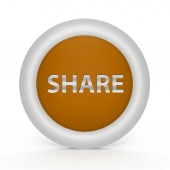 Partager une icône circulaire sur fond blanc — Photo