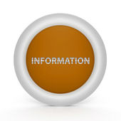 Information circular icon on white background — Стоковое фото
