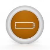 Kreisförmige Akkusymbol auf weißem Hintergrund — Stockfoto