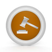 Auction circular icon on white background — 图库照片