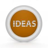 Ideas circular icon on white background — Стоковое фото