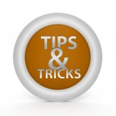 Tips & tricks circular icon on white background — Стоковое фото