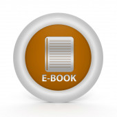 E-book circular icon on white background — Stockfoto