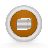 Box circular icon on white background — Stock Photo