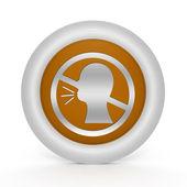 Do not talk circular icon on white background — Stock Photo