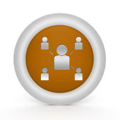 Hierarchy circular icon on white background — Стоковое фото