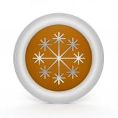Kar beyaz arka plan üzerinde dairesel simgesi — Stok fotoğraf