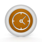Clock circular icon on white background — Stockfoto