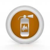 Fire extinguisher circular icon on white background — Stock Photo