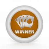 Winner circular icon on white background — Stock Photo