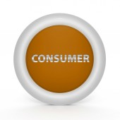 Consumer circular icon on white background — Zdjęcie stockowe